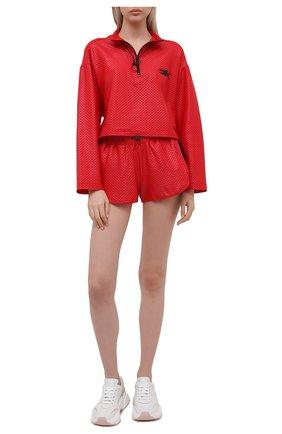 Женская анорак KORAL красного цвета, арт. A6477K09 | Фото 2 (Кросс-КТ: Куртка; Рукава: Длинные; Материал внешний: Синтетический материал; Стили: Спорт-шик; Длина (верхняя одежда): Короткие)