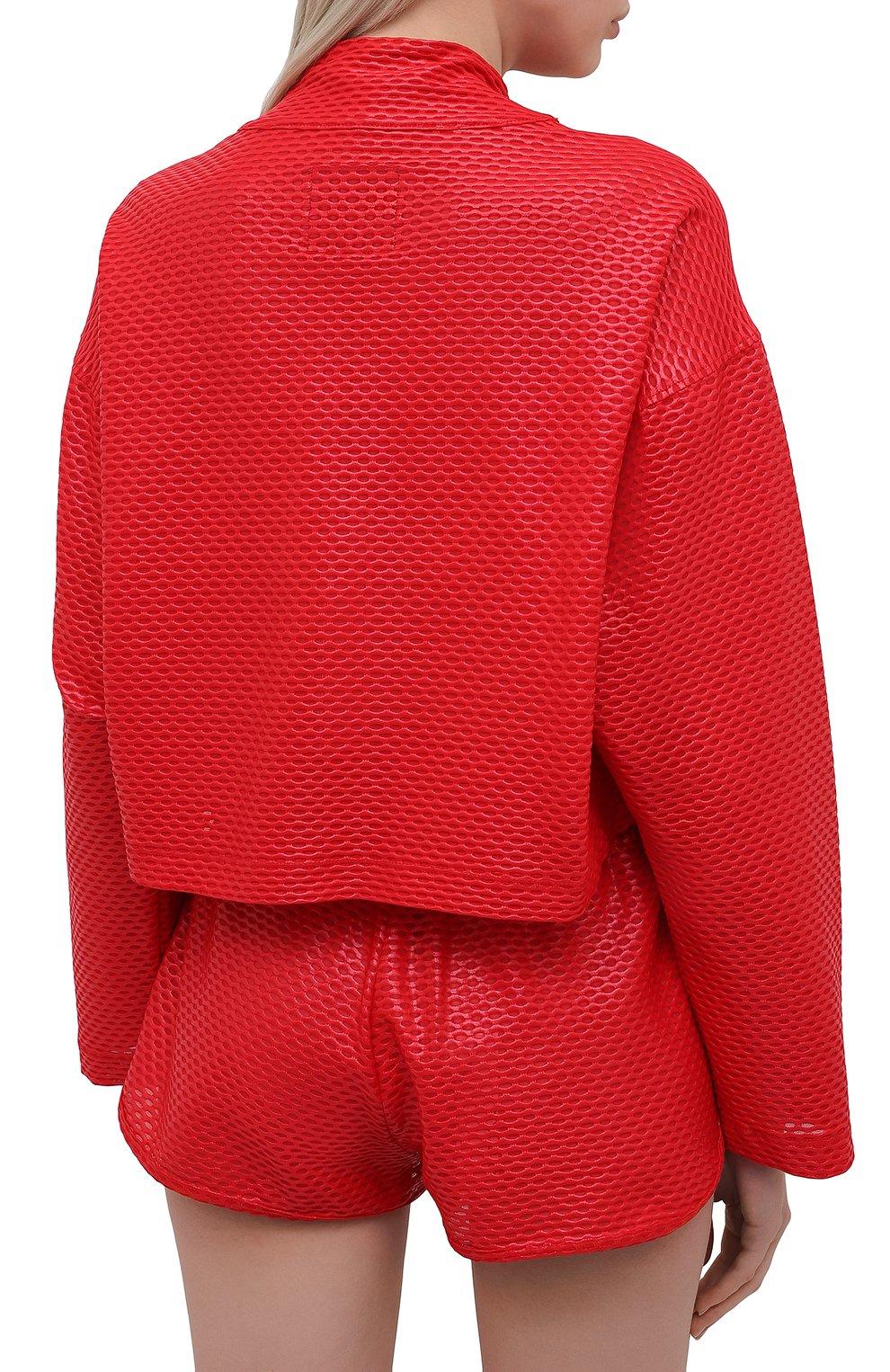 Женская анорак KORAL красного цвета, арт. A6477K09 | Фото 4 (Кросс-КТ: Куртка; Рукава: Длинные; Материал внешний: Синтетический материал; Стили: Спорт-шик; Длина (верхняя одежда): Короткие)
