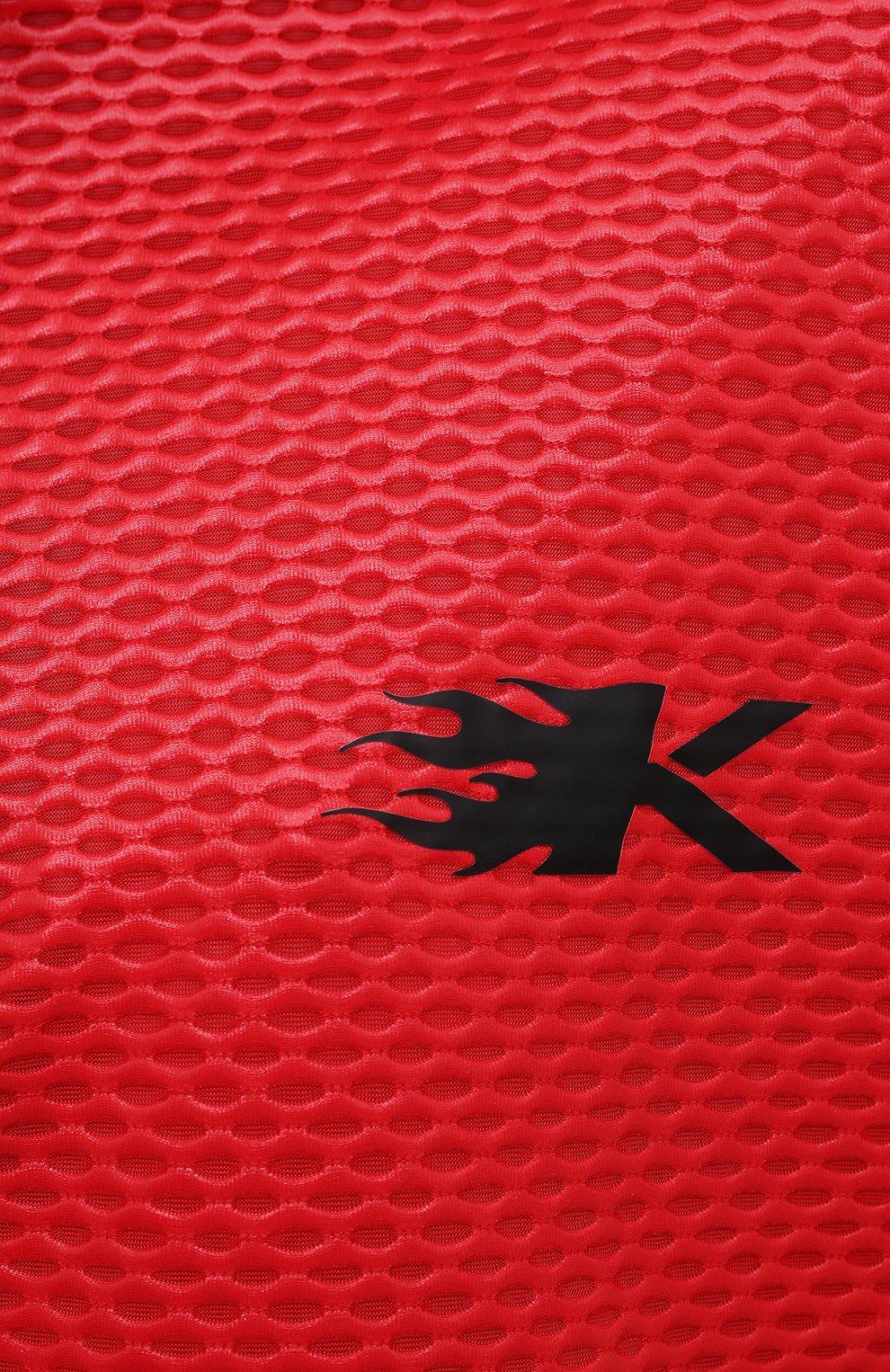 Женская анорак KORAL красного цвета, арт. A6477K09 | Фото 5 (Кросс-КТ: Куртка; Рукава: Длинные; Материал внешний: Синтетический материал; Стили: Спорт-шик; Длина (верхняя одежда): Короткие)