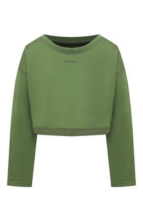 Женская лонгслив KORAL зеленого цвета, арт. A6457F76 | Фото 1