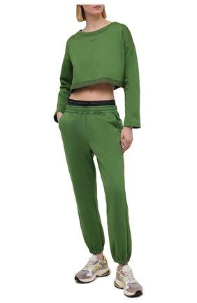 Женская лонгслив KORAL зеленого цвета, арт. A6457F76 | Фото 2