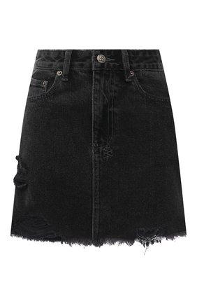 Женская джинсовая юбка KSUBI темно-серого цвета, арт. 5000005578   Фото 1