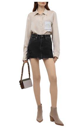 Женская джинсовая юбка KSUBI темно-серого цвета, арт. 5000005578   Фото 2