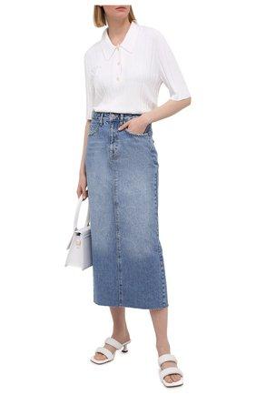 Женская джинсовая юбка KSUBI синего цвета, арт. 5000005568   Фото 2