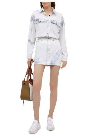 Женская джинсовая рубашка KSUBI светло-голубого цвета, арт. 5000005548 | Фото 2