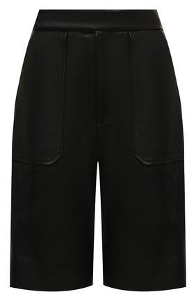 Женские кожаные шорты KHAITE черного цвета, арт. 3072708/THERESA | Фото 1