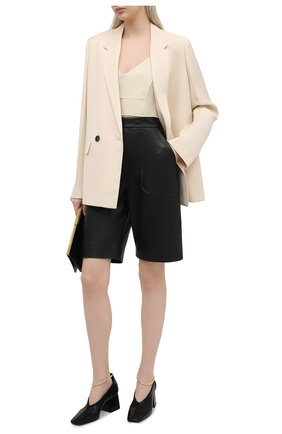 Женские кожаные шорты KHAITE черного цвета, арт. 3072708/THERESA | Фото 2