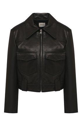 Женская кожаная куртка KHAITE черного цвета, арт. 6039729/C0REY | Фото 1