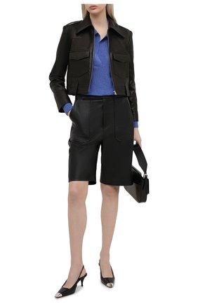 Женская кожаная куртка KHAITE черного цвета, арт. 6039729/C0REY | Фото 2