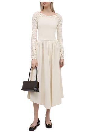 Женские кожаные туфли GUCCI черного цвета, арт. 645600/C9D00   Фото 2