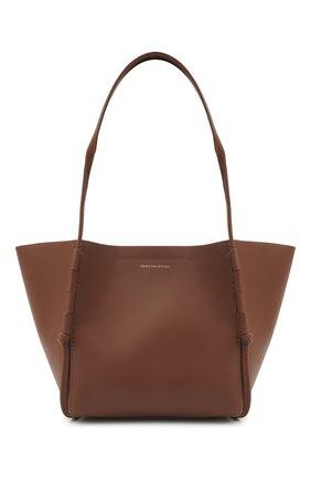 Женский сумка-шопер DRIES VAN NOTEN коричневого цвета, арт. 211-11507-149   Фото 1