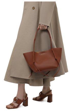 Женский сумка-шопер DRIES VAN NOTEN коричневого цвета, арт. 211-11507-149   Фото 2