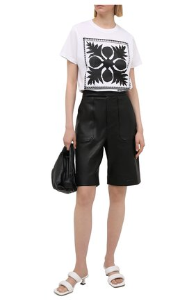 Женская хлопковая футболка REDVALENTINO белого цвета, арт. VR0MG10M/5VW   Фото 2