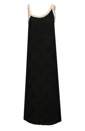 Женское платье из вискозы UMA WANG черного цвета, арт. S1 W UW5039 | Фото 1 (Стили: Романтичный; Женское Кросс-КТ: Платье-одежда; Случай: Повседневный; Материал внешний: Вискоза; Длина Ж (юбки, платья, шорты): Миди)