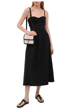 Женские кожаные шлепанцы TOM FORD черного цвета, арт. W2900N-LCL107 | Фото 2