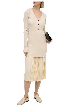 Женское хлопковое платье N21 кремвого цвета, арт. 21E N2M0/AH02/7633 | Фото 2