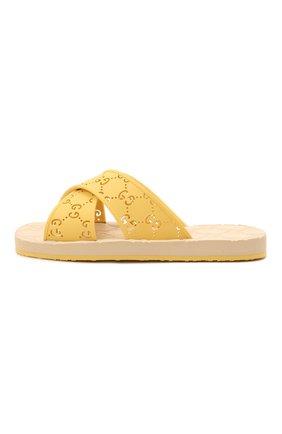 Детский шлепанцы GUCCI желтого цвета, арт. 647119/JER00 | Фото 2