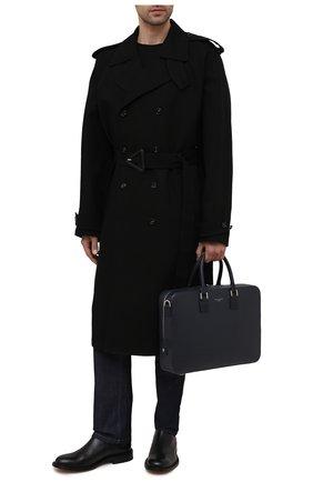 Мужская кожаная сумка для ноутбука ASPINAL OF LONDON темно-синего цвета, арт. 011-1575_13990000 | Фото 2