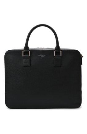 Мужская кожаная сумка для ноутбука ASPINAL OF LONDON черного цвета, арт. 011-1574_14210000 | Фото 1