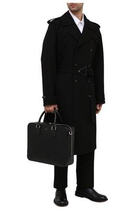 Мужская кожаная сумка для ноутбука ASPINAL OF LONDON черного цвета, арт. 011-1574_14210000 | Фото 2