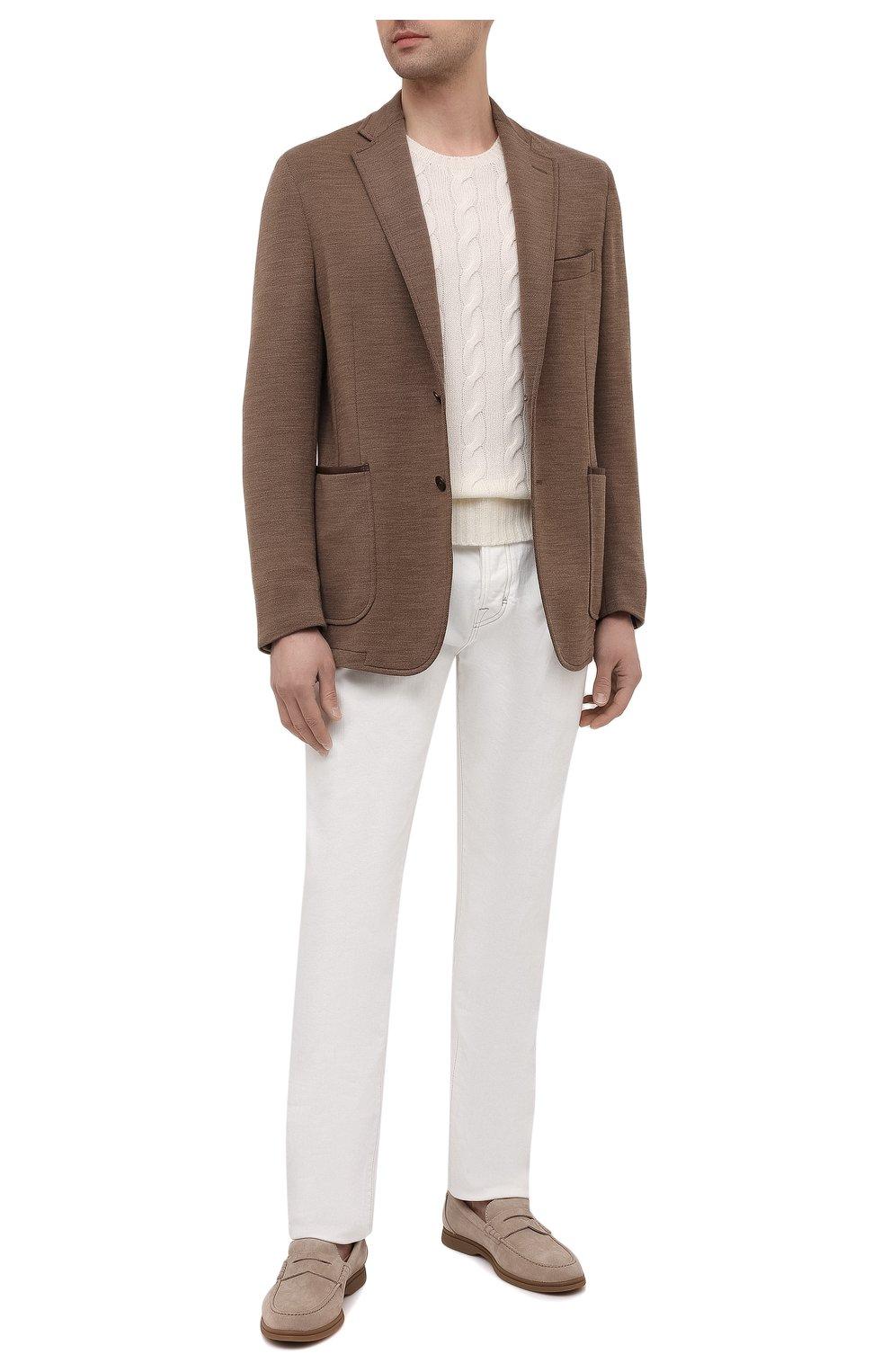 Мужской шерстяной пиджак ZILLI коричневого цвета, арт. MNV-ECKX-2-E6245/0001   Фото 2