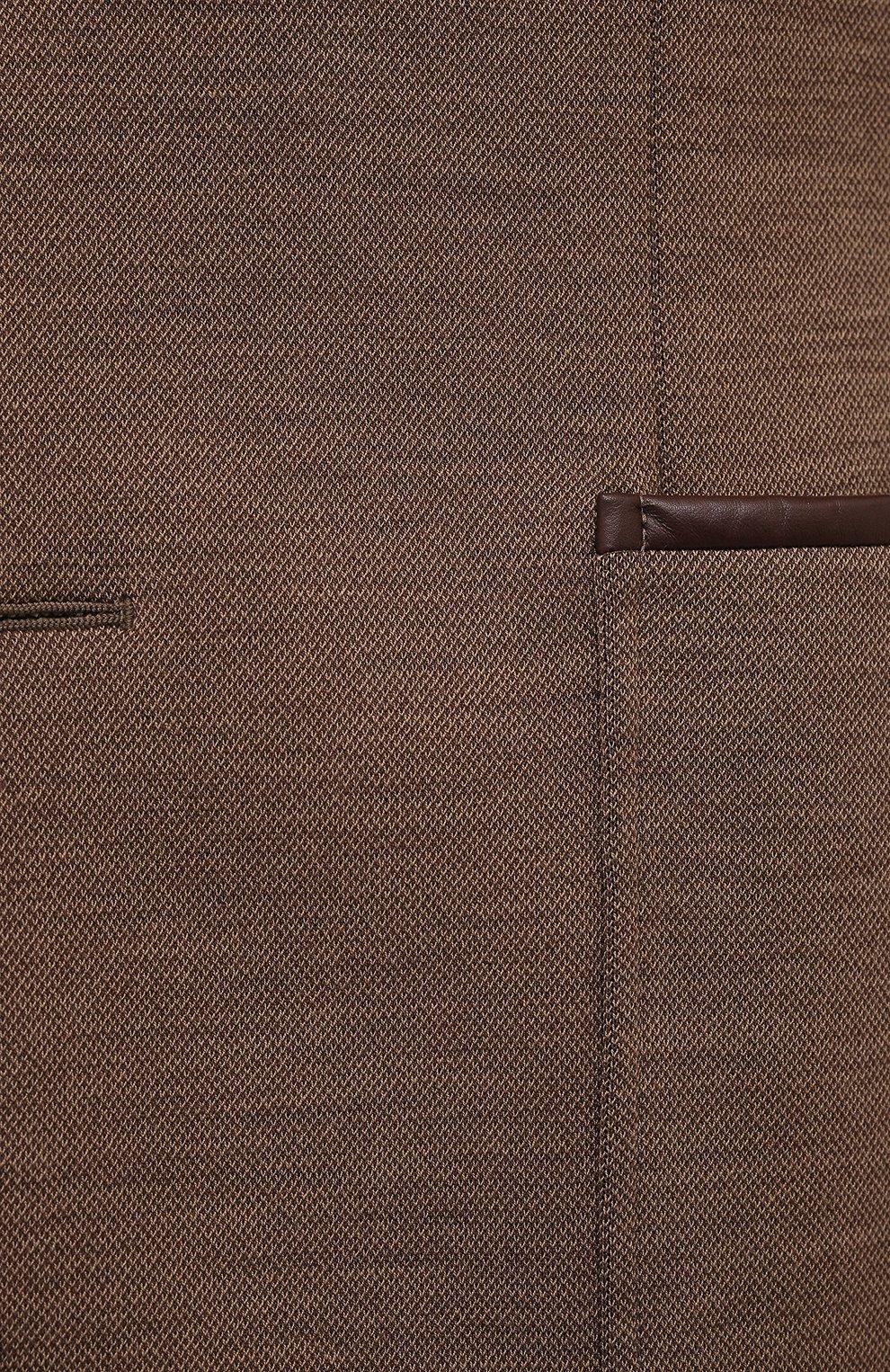 Мужской шерстяной пиджак ZILLI коричневого цвета, арт. MNV-ECKX-2-E6245/0001   Фото 5