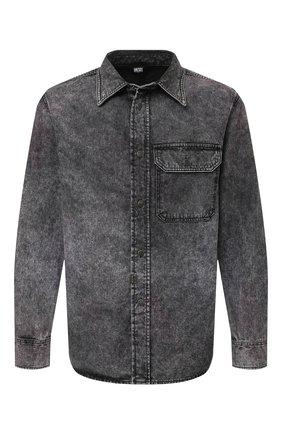 Мужская джинсовая рубашка DIESEL серого цвета, арт. A02544/0HBAP | Фото 1