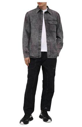 Мужская джинсовая рубашка DIESEL серого цвета, арт. A02544/0HBAP | Фото 2