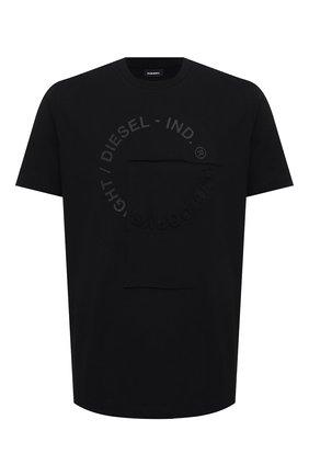 Мужская хлопковая футболка DIESEL черного цвета, арт. A02405/0QBAE | Фото 1
