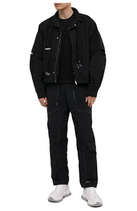 Мужская хлопковая футболка DIESEL черного цвета, арт. A02405/0QBAE | Фото 2