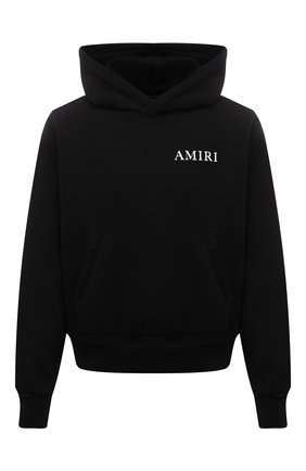 Мужской хлопковое худи AMIRI черного цвета, арт. MJGH002-001 | Фото 1