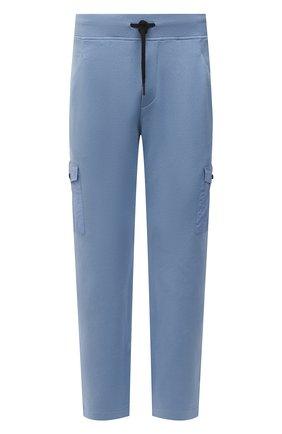Мужские хлопковые брюки-карго GRAN SASSO голубого цвета, арт. 57161/31505 | Фото 1
