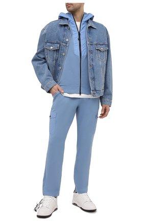 Мужские хлопковые брюки-карго GRAN SASSO голубого цвета, арт. 57161/31505 | Фото 2