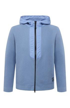 Мужской хлопковая толстовка GRAN SASSO голубого цвета, арт. 57163/31506 | Фото 1