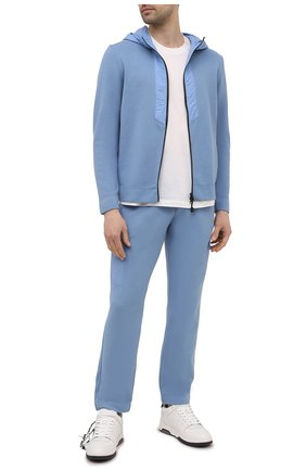 Мужской хлопковая толстовка GRAN SASSO голубого цвета, арт. 57163/31506 | Фото 2