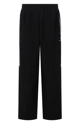 Мужские брюки BALENCIAGA черного цвета, арт. 659033/TK048 | Фото 1 (Случай: Повседневный; Материал подклада: Хлопок, Синтетический материал; Материал внешний: Синтетический материал; Длина (брюки, джинсы): Стандартные)
