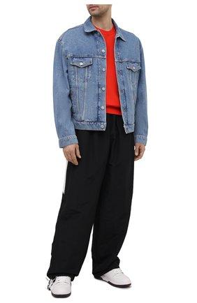 Мужские брюки BALENCIAGA черного цвета, арт. 659033/TK048 | Фото 2 (Случай: Повседневный; Материал подклада: Хлопок, Синтетический материал; Материал внешний: Синтетический материал; Длина (брюки, джинсы): Стандартные)