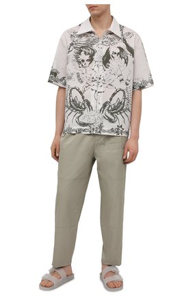 Мужские шлепанцы mallorca BALENCIAGA белого цвета, арт. 656940/W2DZ1 | Фото 2