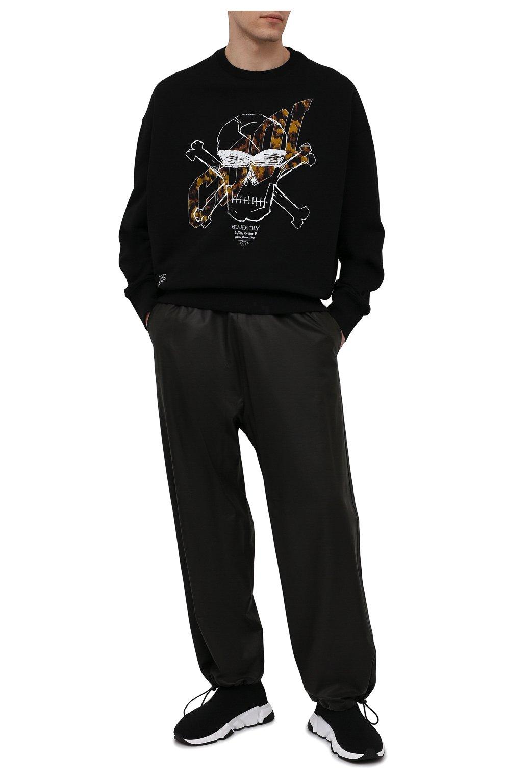 Мужские текстильные кроссовки speed 2.0 BALENCIAGA черного цвета, арт. 645056/W2DBQ | Фото 2 (Материал внешний: Текстиль; Стили: Гранж; Материал внутренний: Текстиль; Подошва: Массивная)