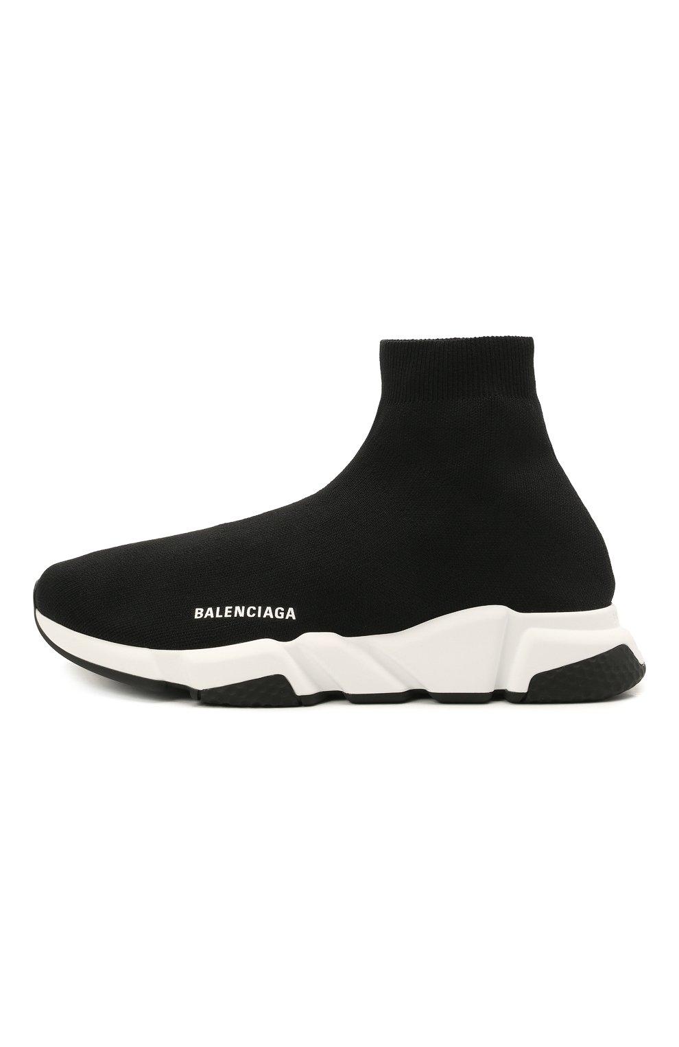 Мужские текстильные кроссовки speed 2.0 BALENCIAGA черного цвета, арт. 645056/W2DBQ | Фото 3 (Материал внешний: Текстиль; Стили: Гранж; Материал внутренний: Текстиль; Подошва: Массивная)