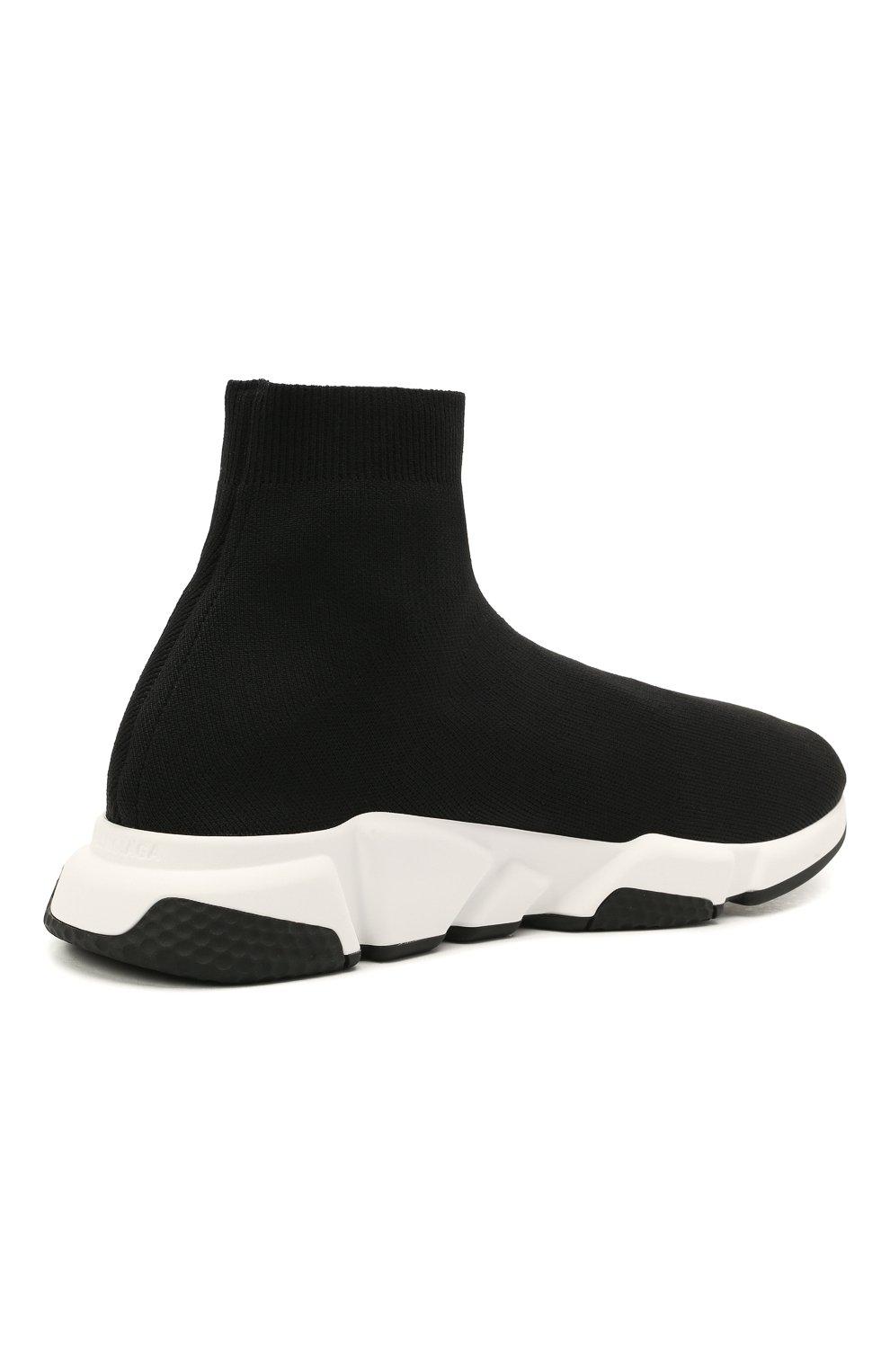 Мужские текстильные кроссовки speed 2.0 BALENCIAGA черного цвета, арт. 645056/W2DBQ | Фото 4 (Материал внешний: Текстиль; Стили: Гранж; Материал внутренний: Текстиль; Подошва: Массивная)