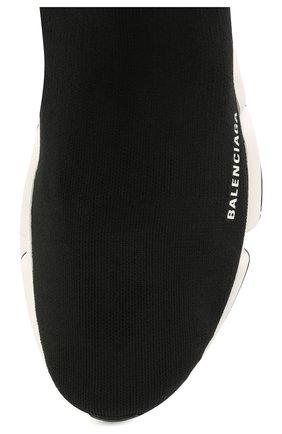 Мужские текстильные кроссовки speed 2.0 BALENCIAGA черного цвета, арт. 645056/W2DBQ | Фото 5 (Материал внешний: Текстиль; Стили: Гранж; Материал внутренний: Текстиль; Подошва: Массивная)