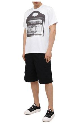 Мужские текстильные кеды MONCLER черно-белого цвета, арт. G1-09A-4M738-40-02SS9 | Фото 2