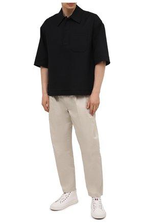 Мужские текстильные кеды MONCLER белого цвета, арт. G1-09A-4M739-40-02SSA | Фото 2