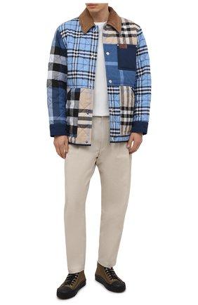 Мужские текстильные кеды MONCLER хаки цвета, арт. G1-09A-4M739-40-02SSA | Фото 2