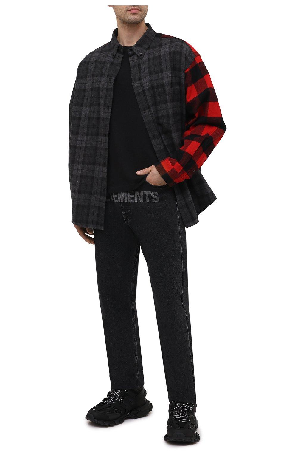 Мужские комбинированные кроссовки track hike BALENCIAGA черного цвета, арт. 654867/W3CP3 | Фото 2 (Материал внешний: Текстиль; Стили: Гранж; Материал внутренний: Текстиль; Подошва: Массивная)
