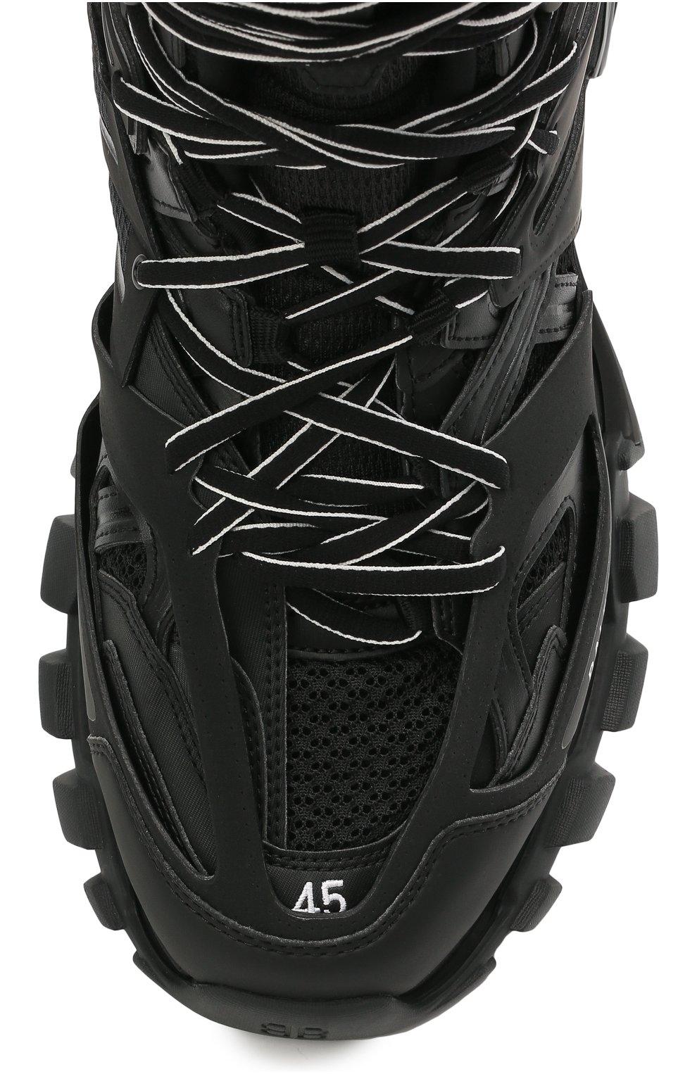 Мужские комбинированные кроссовки track hike BALENCIAGA черного цвета, арт. 654867/W3CP3 | Фото 5 (Материал внешний: Текстиль; Стили: Гранж; Материал внутренний: Текстиль; Подошва: Массивная)