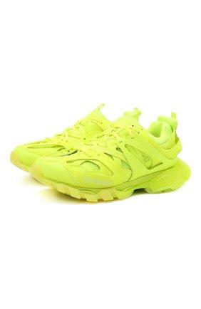 Мужские комбинированные кроссовки track BALENCIAGA желтого цвета, арт. 647742/W3BM3 | Фото 1