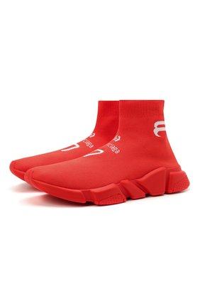 Мужские текстильные кроссовки speed BALENCIAGA красного цвета, арт. 645734/W2DBU | Фото 1
