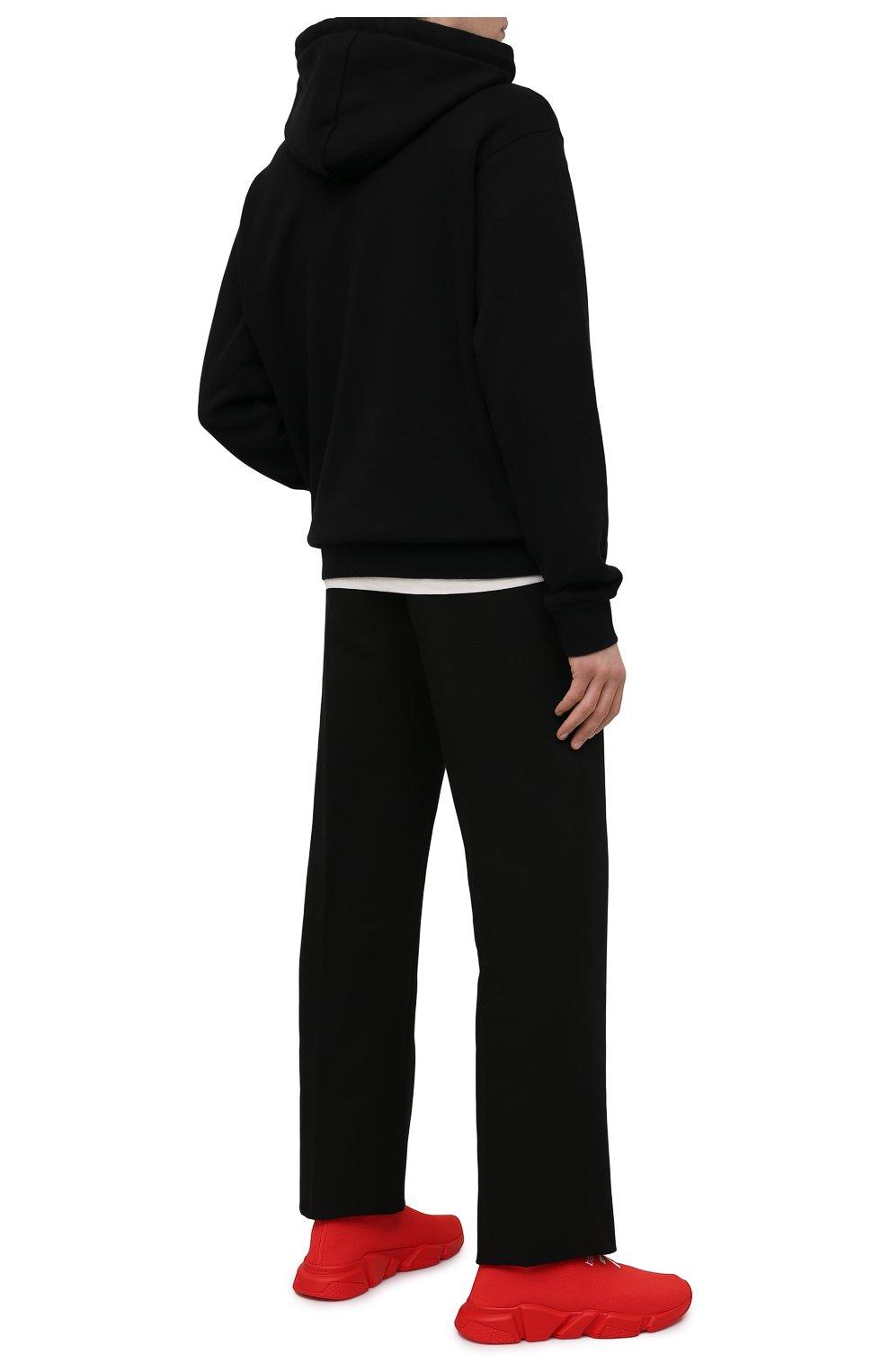 Мужские текстильные кроссовки speed BALENCIAGA красного цвета, арт. 645734/W2DBU   Фото 2 (Материал внешний: Текстиль; Стили: Гранж; Материал внутренний: Текстиль; Подошва: Массивная)